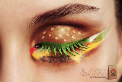 Burger King makeup actually looks quite fun.
