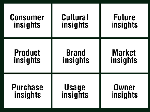 insights bingo.