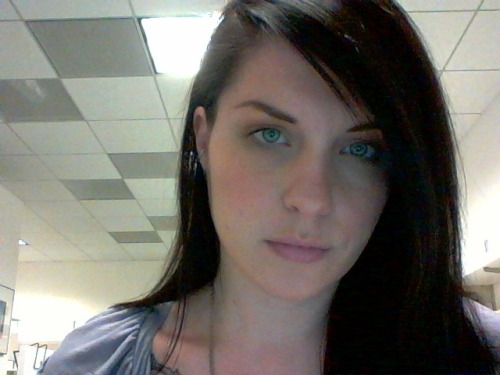 The webcam in this laptop I'm working on makes my eyes look kinda freaky and weird.