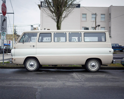 jimgolden:  Dodge A100 Van, N. Portland, Ore. One of the best looking Dodge's I've seen from this era.