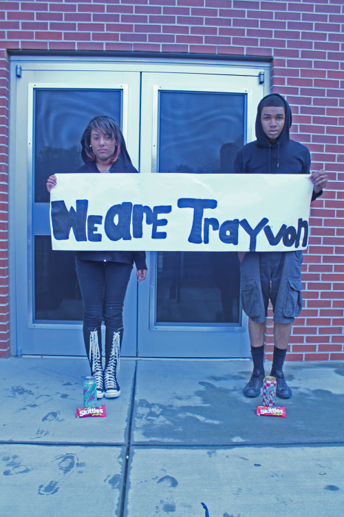 gotflywithoutpeterpan:  mariiface:  inspirationisquality:  WE ARE Trayvon Martin. R.I.P Trayvon   Are you stupid  omg he looks like him… Guns Do Not Change The Color Of Our Skin . Do I Have To Take You Back To Feburary . We Have A Black President . Black Actors . Teachers . Students . Babies . Doctors . Lawyers . Supreme Court Justices . The List Goes On & On . Kill One . You Injure All .