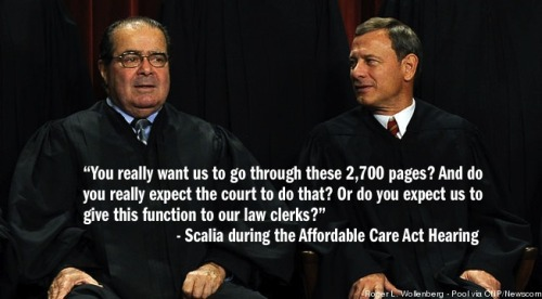 tpmmedia:  Supreme Court Justices Struggle With Health Policy And Key 'Obamacare' Facts.  Sounds like they need some interns.