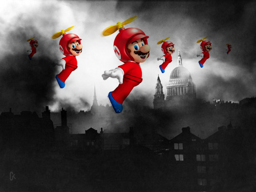 That time when Flying Mario bombed the crap out of Europe…