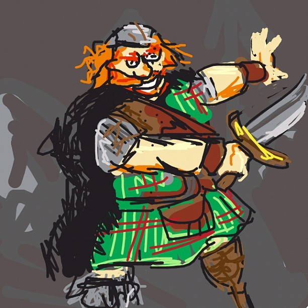 Kilt. #drawsomething #drawsomethingdesigns #pixar #Brave #KingFergus #iphoneonly  (Taken with instagram)