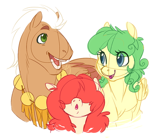 SUP GUYS. I decided to start a separate blog for my pony art—well, pony OCs haha. There will still be fanart of canon characters on this blog (even though I rarely even do it these days), but no more OCs. I decided it would be best to both have a directory to list them and a place to stock their art uvu New pony OCs will also go there! At last but not least, it's also an ask blog! If you guys have questions (though I doubt LOL) for any of 'em, I'll most likely draw the replies. (this will only be done in my free time so there is no guaranteed continuity hahaha) So yeah, if you like ponies/my ponies, THIS IS THE PLACE TO GOOOoooOOooo o o  ♥