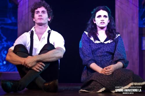 brittanaareyouokay:  Mat Vairo as Melchior and Lindsay Pearce as Wendla in Spring Awakening