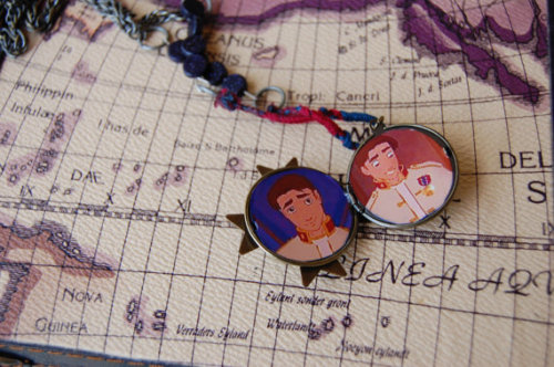 Once Upon a Charm, Treasure Planet inspired necklace.