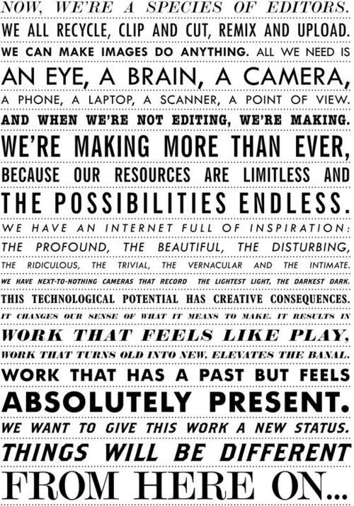 curiositycounts:  The Manifesto For Visual Culture (via)