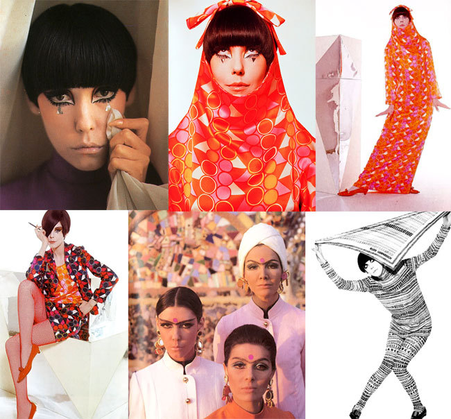 "An anecdote excerpted from The Rudi Gernreich Book by Peggy Moffitt and William Claxton demonstrates the clash of the New York fashion Old Guard vs. Rudi's west coast unconstructed, modernist designs. RG won a Coty Fashion Critics award in June of 1963. ""As a protest against Gernreich's win, Norman Norell returned his own Coty award, telling WWD 'It no longer means a thing to me. I can't bear to look at it anymore. I saw a photo of a suit of Rudi's and one lapel of the jacket was shawl and the other was notched—well!'"" Some things never change—the NY fashion establishment still takes itself way too seriously."