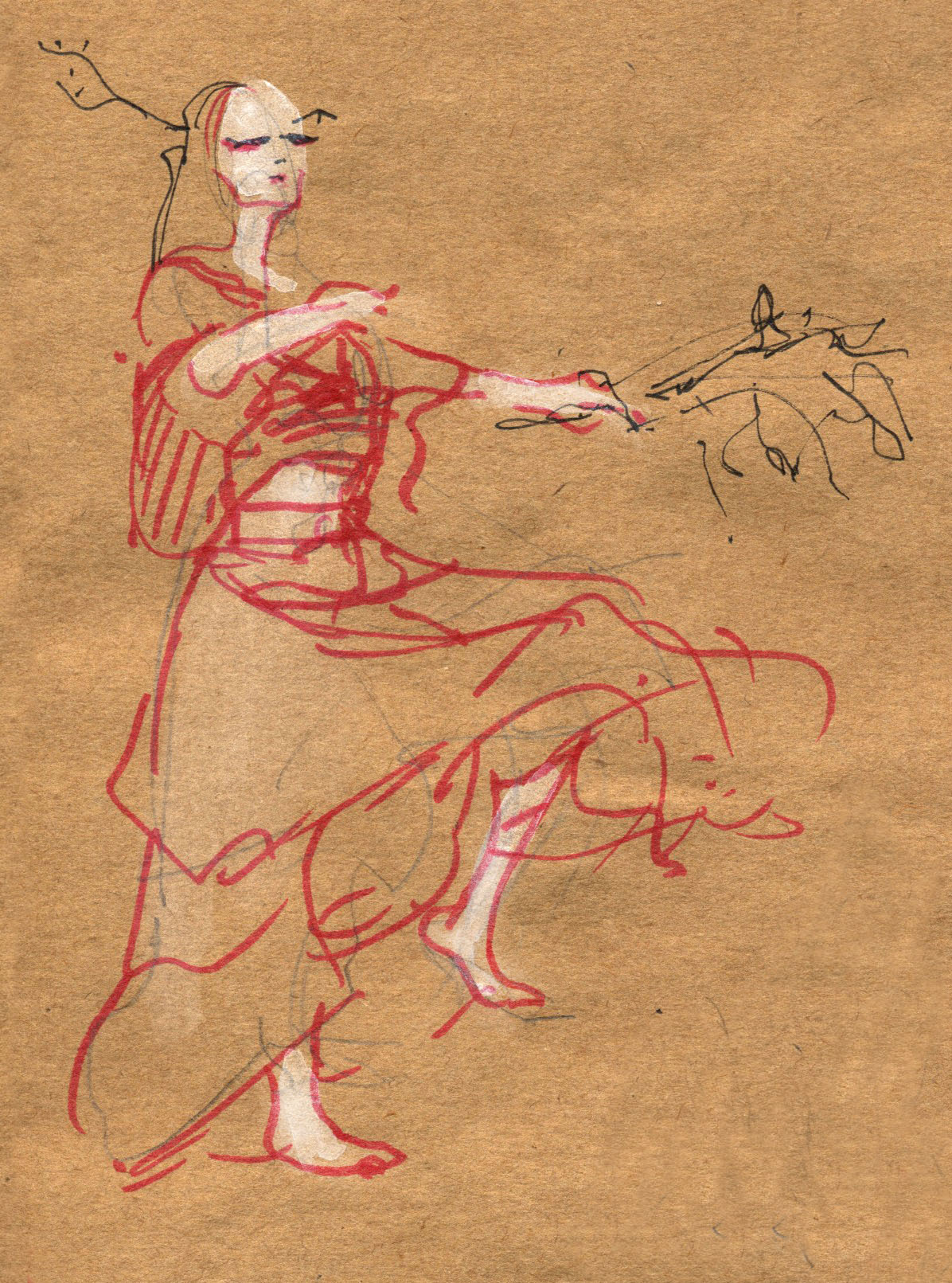 photo: Butoh at Dr. Sketchy's. Many more drawings coming up.