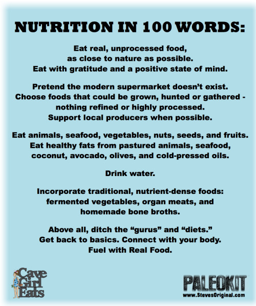 Nutrition in 100 Words, Version 2.0! | Cave Girl Eats