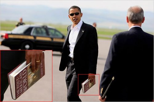 Some people will look at this picture and not think twice. Obama critics, however, will jump all over it. They will say. Look at that! See! He's already given up on America! He's reading books about how the US is collapsing! I've read that book. Its a great book. It's called The Post American World by Fareed Zakaria and it's not about the collapse of the United States. Its about the US being the strongest economy and military but the rest of the world is soon catching up. And we need to be ready for that. It explains ways that we can adapt to other large economies existing in the same world as us. We need to prepare for the day when there are countries with economies as large or larger as ours. We need to stay relevant. The book explains how other countries have great school systems for teaching their kids math and science. However, they lack in teaching their students how to think. The US is still one of the best places to teach people how to think out of the box. China is really lacking that right now. They only know how to duplicate what others invent. The future is not something to fear. It's something to adapt to. I'm proud that we have a President who's reading The Post American World and not something like The Secret…