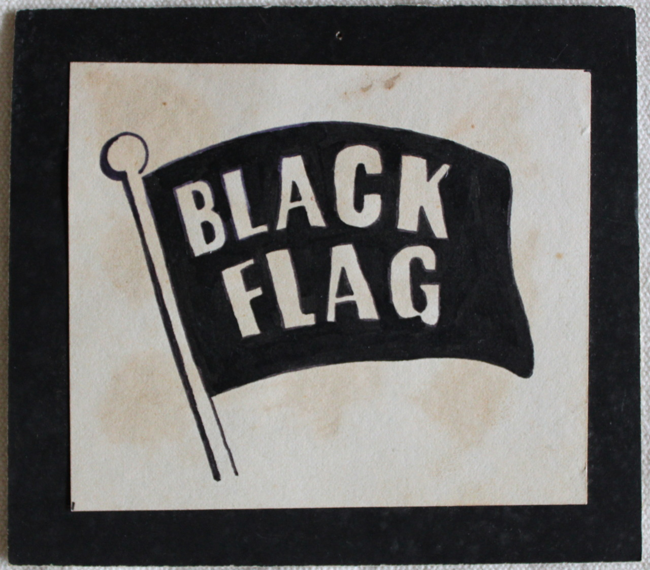 "FROM BMX TO BLACK FLAG  LOGO DRAWING FROM JUNIOR HIGH TACOMA 1981/2 In my pre-teen and adolescent years I loved drawing logos. I vaguely remember drawing this Black Flag logo for some art project in Junior High  (based on that of the insecticide of the same name, it was almost as popular a version among punks at the time as the classic ""four bars"" ). This would've been in late '81 or early '82. It's kind of surprising I didn't go into graphic design considering my early obsessive fixation with logos. If I had I probably would've ended up earning some money from making art. Now wouldn't that have been awful?  Before discovering punk in the early 80's I was a huge BMX enthusiast. I competed in races around the Seattle/Tacoma area in the late 70's but as much as I liked riding and racing I was always just as interested in the look and feel of BMX: the bikes, magazines, and gear.  Oh, and by the way, for all you whipper-snappers under the age of thirty-something who might be reading: In the BMX era I'm talking about racing in races was the only game in town. ""Freestyle"" at the time was a term known only in the world of competitive swimming and, speaking of swimming, I didn't see anyone riding a BMX bike in a swimming pool until I moved to So. Cal. years later. I can't recall ever even seeing photos of anyone doing that in the BMX magazines in the late 70's/early 80's either. Of course in Washington State there are no pools.So aside from riding around the neighborhood or jumping your bike over a hastily erected wedge of a ramp to catch air, racing is what you did.  Though I lived in Washington I had a decent grasp of what was happening in So. Cal. because I subscribed to and carefully studied publications like BMX Action and BMX Plus! almost obsessively. I'd spend hours with felt tipped pens trying to draw perfect reproductions of the logos of my favorite brands of bikes and components. Brands like Cook Bros. Racing, Diamondback, Torker, Mongoose, JMC, Hutch, Kuwahara…the list goes on and on. There was something magical about the logos and all they symbolized to me. They represented something that was rare, expensive, and very specialized. In that era where I lived you were forced to travel to often out of the way places in order to get to the specialty bike shops that carried the good parts by the right makers. BMX was a semi-underground sport that you had to seek out if you wanted in. Like Black Flag and many other hardcore bands I would soon come to love and whose own logos I would soon be studying and drawing on my clothes, most of the BMX manufacturers and racers I admired hailed from the promised land of Southern California. Racers like Stu Thomsen, Anthony Sewell, and Harry Leary to name a few. They raced at tracks with exotic-sounding names like Azusa, Devonshire Downs and Soledad Sands.  I used to imagine what it was like at these places and what these racers must've looked like wearing the graphic uniforms of their big factory teams, flying around the track, catching air, and crossing the finish line. It all seemed so far away, so sunny, and spectacular to me living as I did in the rainy, grey Pacific Northwest. As much as I dug the look and feel of the sport I also really liked that BMX felt like it was my thing. It wasn't something everyone else knew about. Going to a race with my mom and my stepdad or with my dad and my brother somewhere outside of town on the weekend expanded my world because the races drew kids like me from all over the area. Only a couple times did I run into another kid from my school at one of these races and I didn't especially like it when I did.  What's he doing here? this is my world. Of course it wasn't. It was for anyone who wanted to be a part of it. Just like punk rock. BMX wasn't a school sport and it wasn't a team sport like little league or football, neither of which I had any interest in at all. It was an individual activity that took time, some money, skill, and technical knowledge if you wanted to participate in it. All these things took a lot of work and effort for me to acquire them. There were no coaches involved and there was nobody to tell you how to do it, which meant you had to figure it out and do it yourself.  I found this self-directed aspect of it to be personally empowering and it gave me a sense of belonging to something cool. I didn't analyze it or think about it that way at the time, I was too busy having fun. Looking back though, I can see that BMX gave me a sense of self-esteem of the sort that all kids need, and hopefully find, if they are to have the confidence to survive and thrive in the wider landscape of adolescence. I think it might've been my experience in the world of BMX that later helped me find the guts to strike out into the uncharted and unsanctioned do-it-yourself world of Hardcore Punk. The parallels and overlaps between Punk Rock, skateboarding, and BMX are obvious and have been written about and documented widely. I don't have a whole lot to add to their history beyond my own personal experiences moving in, around, and through them. In the interest of giving credit where credit is due, I'd like to say that I know now how lucky I was to be blessed with parents and step-parents who openly supported, or simply didn't stand in the way of me following my interests back then. It couldn't have been easy watching me do all this potentially dangerous stuff. Their skilled and artful hands as my guardians and stewards helped instill in me a decent sense of judgement and helped keep me safe and motivated throughout my early years. Big thanks to them all. I still sometimes marvel when I see BMX on television or in The Olympics, or when I hear a punk song on the radio or see a Black Flag shirt for sale at the mall. I know I shouldn't be surprised, it's all so ubiquitous in the culture now. I can't help it though, I still marvel. Black Flag logo by me from my personal archive."