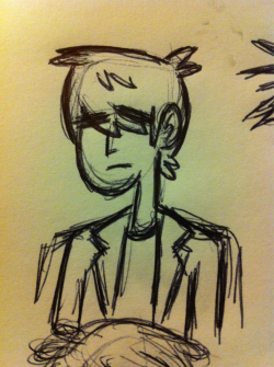 Jim is a character in a comic I'm working on, so I've been drawing quite a lot of him. He's got a nice simple design that's difficult to screw up too much.