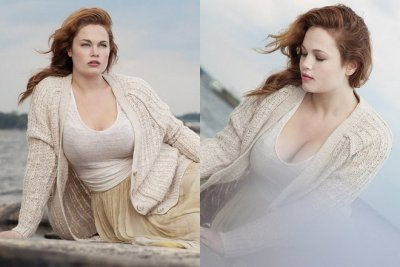 judgmentofparis:  Buxom plus-size model Kailee O'Sullivan in a Nordic-themed photo shoot. Click here to see more images from this evocative series.