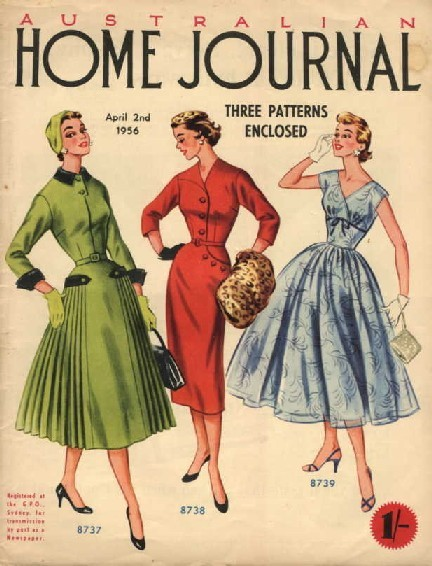 Dresses, 1956 Australia, Australian Home Journal