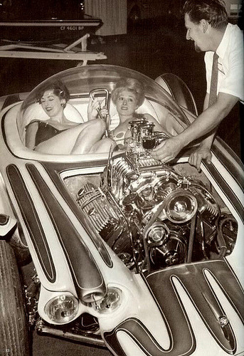 "Ed ""Big Daddy"" Roth and the Beatnik Bandit, circa 1962."