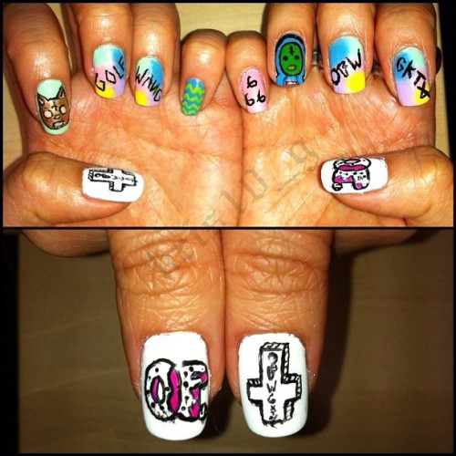 Odd Future X Tyler the Creator 💅Nail Art 😝 (Taken with instagram)