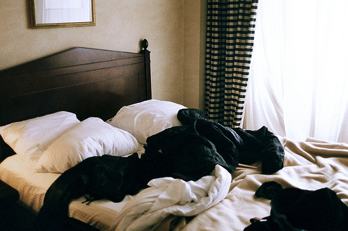 4doors:   (by haydenelizabeth)   My bed every morning