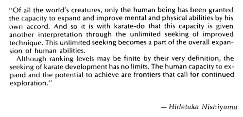 From the official JKA Examination Guide