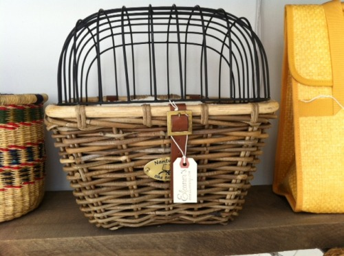 We have bicycle baskets to keep furry friends safe.
