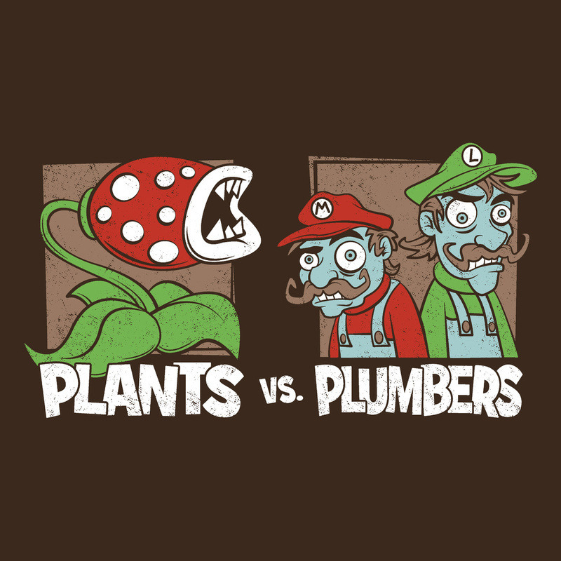 assorted-goodness:  Plants Vs Plumbers - by Matthew J Parsons Prints available at Society6