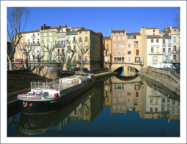 | ♕ |  Canals in Narbonne - Aude, France  | by © jolivillage