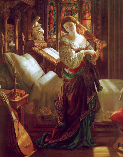 welovepaintings:  Daniel Maclise (1806-1870)Madeline after prayerOil on canvas99.695 x 127 cmWalker Art Gallery (Liverpool, United Kingdom)
