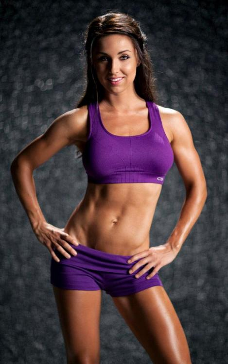 "muffintop-less:  Found this shot from my first fitness shoot! As you can see, lifting heavy weights, drinking protein shakes and eating every 2 hours, every day for months made me super manly and bulky (sarcasm). Women do not have the levels of testosterone necessary to bulk up the way men do. As much as I'd LIKE to have bigger muscles, it's VERY difficult and takes a long time! The women you see with huge, shredded muscles… they take steroids, train and eat massive amounts of food for YEARS to look like that! It does NOT happen by accident and it does NOT happen overnight.  Building muscle will actually make you look SMALLER. Muscle is MUCH denser than fat (smaller and more compact)… so when you change your body composition by losing fat and building muscle, you will actually appear smaller. Even though I weighed only 105 pounds in high school, I look WAY smaller now at 115 pounds!!! Remember.. TONE IS MUSCLE. It's a LOT harder to ""tone"" than most girls think. I eat clean, I lift weights and I do cardio on occasion. 80% diet, 20% training! I make sure to have a lean protein source at each meal.. I also eat a variety of veggies and healthy fats like olive oil and natural nut butters. I lift weights 5-6 days a week (splitting it up so I train different bodyparts on different days).  Get out there and chase your health and fitness goals! =)"
