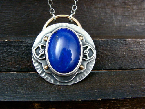 pharaohs secret … lapis pendant From sirenjewels