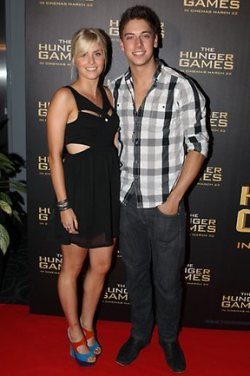 'THE HUNGER GAMES' SYDNEY PREMIERE - AMY RUFFLE & LINCOLN YOUNES Everyone has been raving about the new flick, 'The Hunger Games' and last week marked the Sydney premiere of this much anticipated blockbuster. Whilst the super hot cast including Liam Hemsworth, Jennifer Lawrence & Josh Hutcherson didn't make an appearance at the event, the red carpet was still super hot to the max, being worked by some of Australia's hottest media personalities. Here are the photos for YOUR viewing pleasure! Image Source: The Daily Telegraph