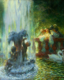 Gaston La Touche (St. Cloud, France 1854 - Paris, France 1913) La Fête Joyeuse 1899 Oil on canvas
