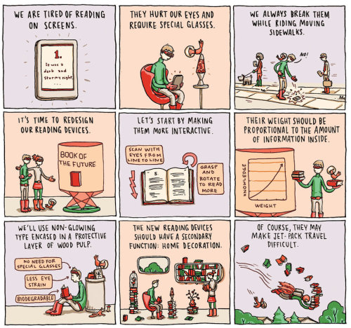 "quiethouses:  ""The Book of the Future"" by Grant Snider"