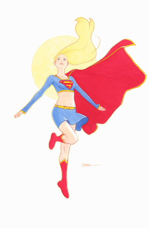 vezarina:  gabzilla-z:  xombiedirge:  Supergirl by Joshua Middleton  *_*  Endless love for Joshua Middleton