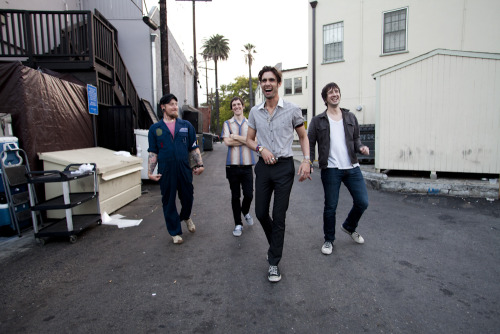 Just finished my exclusive photo session with The All American Rejects in the back alley behind the Troubadour! More photos this weekend! Photo by Brad Elterman