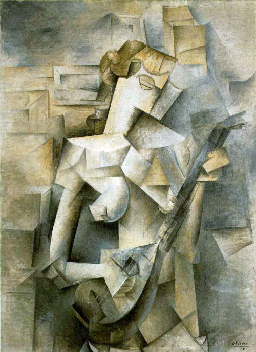 Girl with A Mandolin (1910) by Pablo Picasso