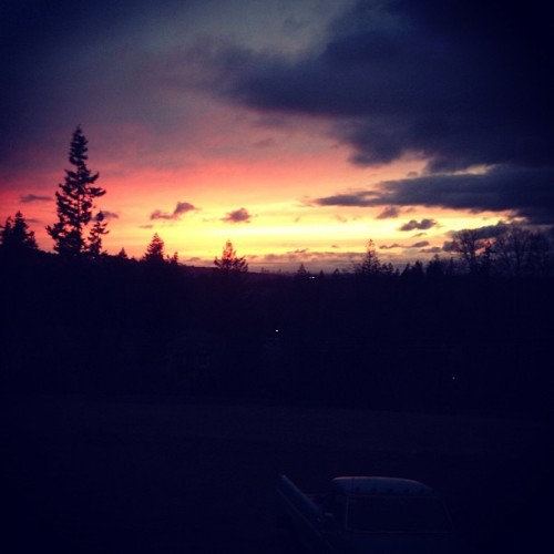 Sunsets from the back yard (Taken with instagram)