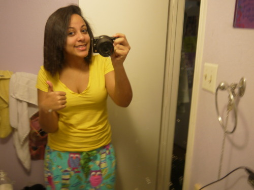this is me in my jammies without makeup. before looking at this blog, i looked at this picture and thought, ew. im fat. im ugly. but you know what? im happy with my body now. it is my temple. it is beautiful. it is perfection.