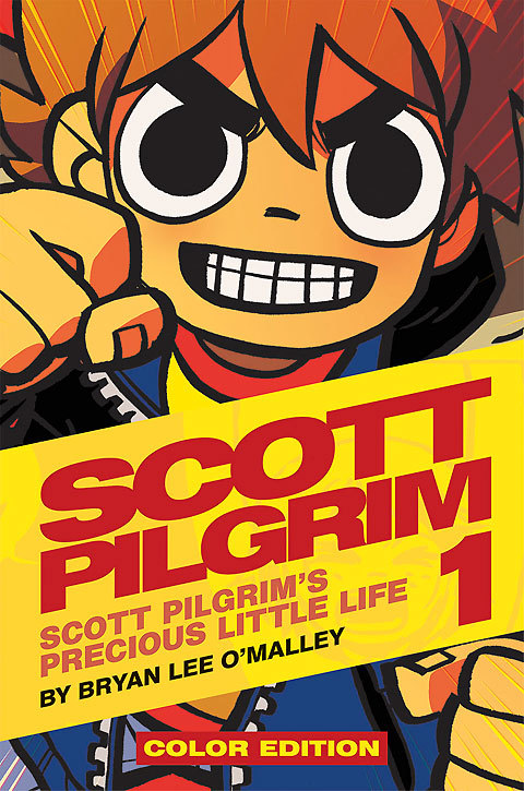 hekturr:  radiomaru:  scott pilgrim returning in full color with remastered art at a new larger trim size in beautiful hardcover editions! colors by Nathan Fairbairn. here's an interview about it  Wow. My life just got so much better.
