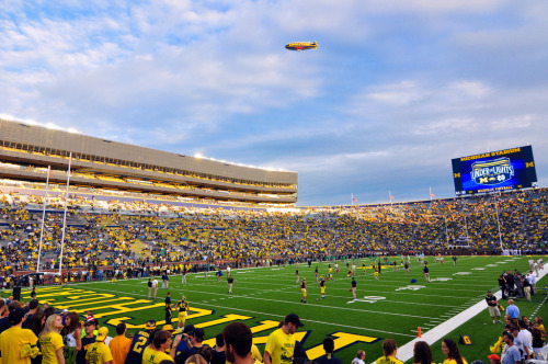 23. Michigan Stadium (The Big House) Ann Arbor, Michigan, USA Built: 1927 - Capacity: 109,901 Home to the University of Michigan Wolverines. The stadium will host the 2013 NHL Winter Classic; a 2010 hockey game between Michigan and Michigan State holds the single-game attendance record for a hockey match. It is the third-biggest stadium in the world (not including auto racing venues). The stadium was built with the footings to be able to expand to 200,000 seats. Photo by Flickr user AndrewH324.