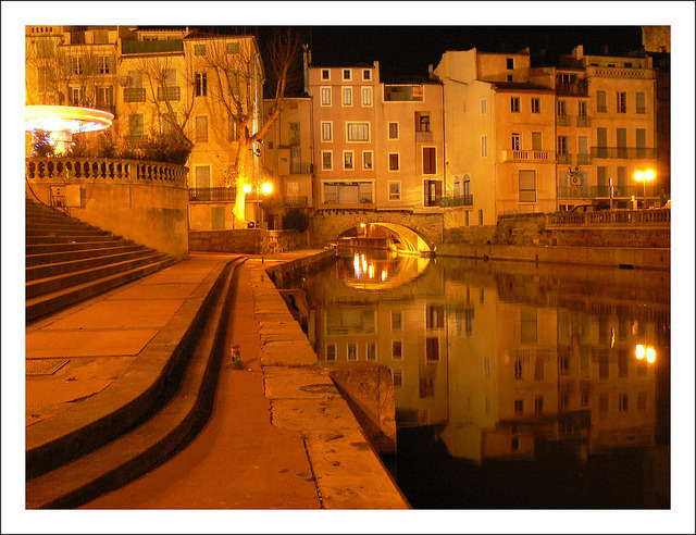 | ♕ |  Narbonne by night - Aude, France  | by © jolivillage