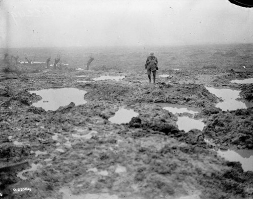 itsjohnsen:  The Belgian wasteland after the Battle of Passchendaele, 1917. Archives Canada