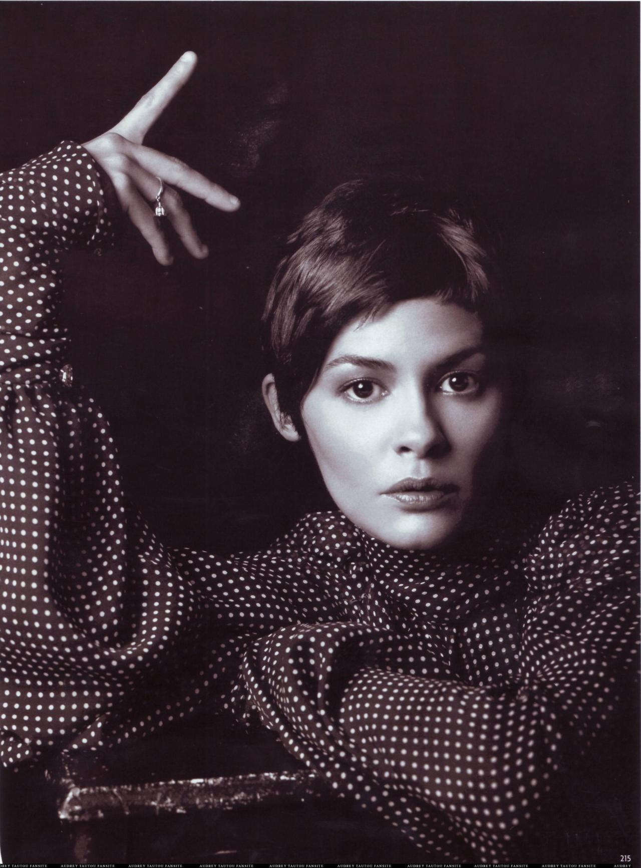 Audrey Tautou - Vogue Germany by Mark Abrahams, November 2006