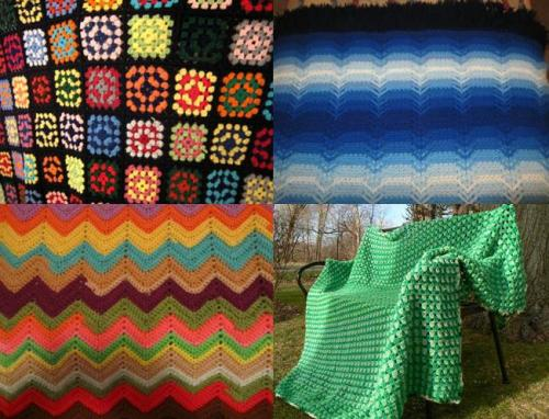 New Obsession: Vintage Crochet Granny Quilts from eBay in crazy, interesting patterns