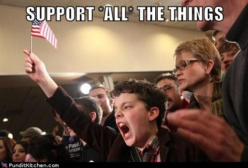 SUPPORT ALL THE THINGS!