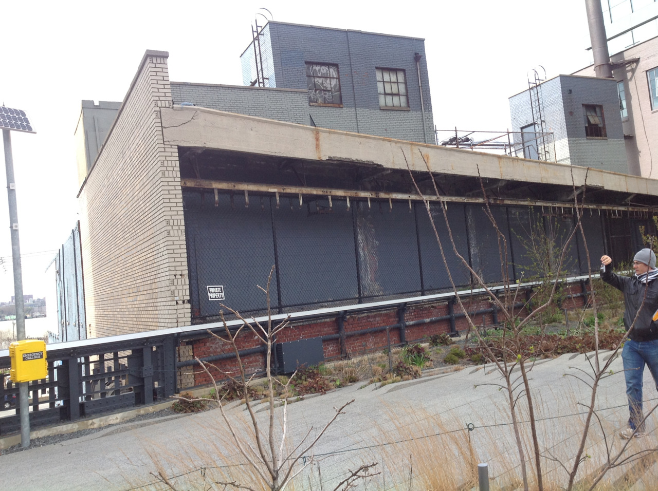 Inspiration: Gorgeous blue building on the highline