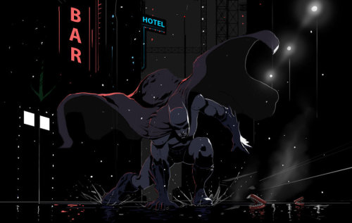 timetravelandrocketpoweredapes:  Batman Arkham City by hubah