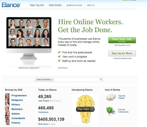 Elance Surpasses $500 Million of Online Work   Full Story: Elance Blog