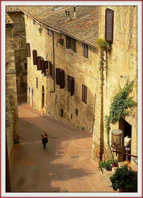 | ♕ |  Medieval passage - San Gimignano  | by © jolivillage | via ysvoice