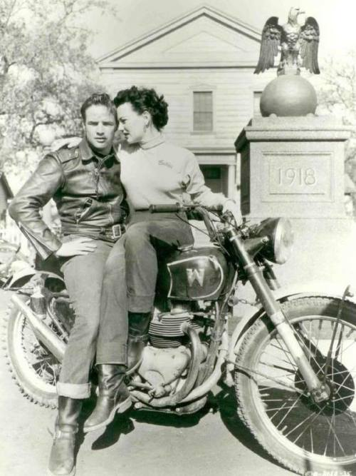 """The wild One"", 1953 Here on this picture with Yvonne Doughty as Britches"
